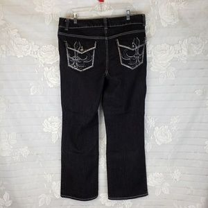 Faded Glory NWOT Black Jean's with bling 16
